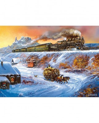 Puzzle Master Pieces - Railways - Coyote Special, 1.000 piese (Master-Pieces-71653)