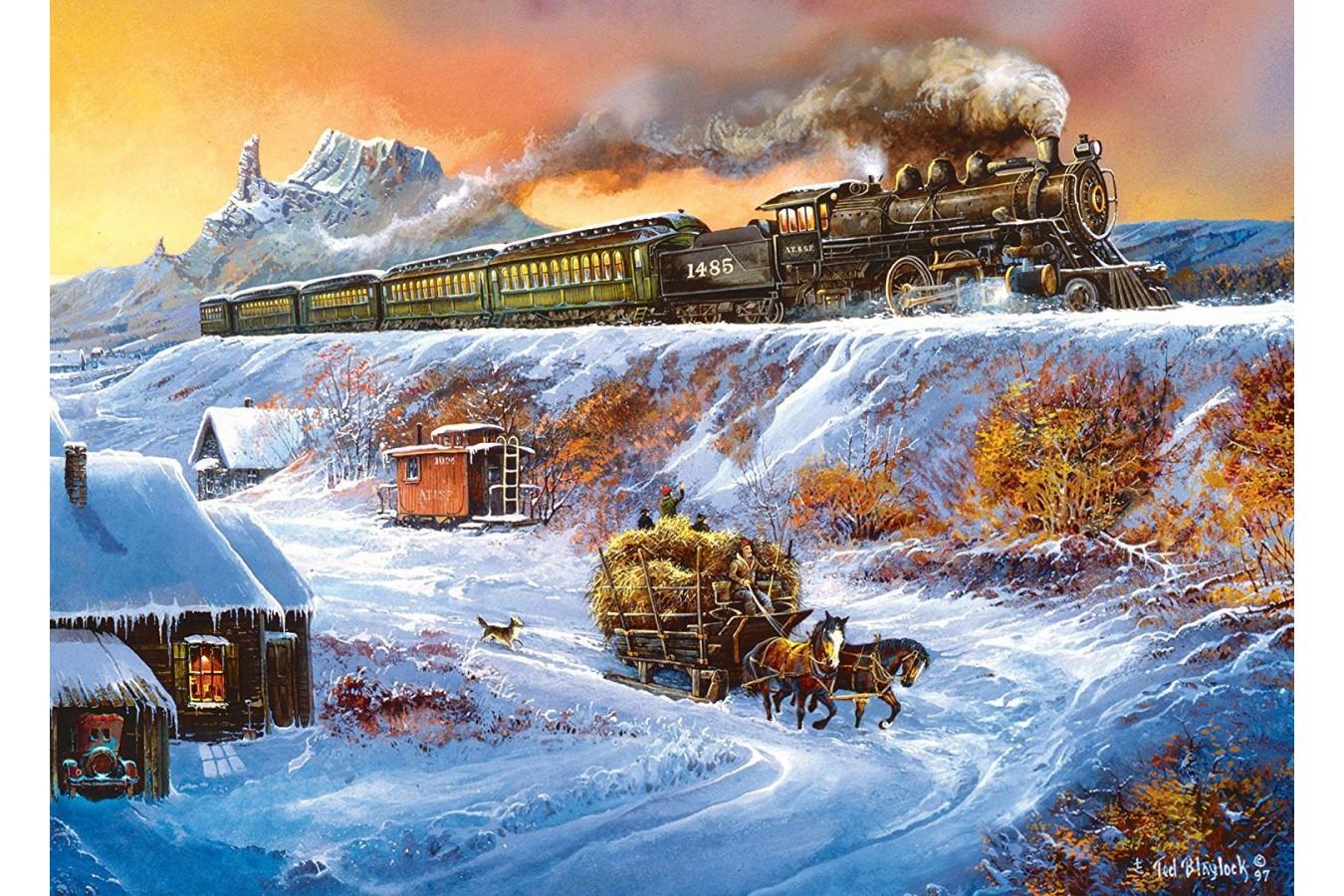 Puzzle Master Pieces - Railways - Coyote Special, 1.000 piese (Master-Pieces-71653)
