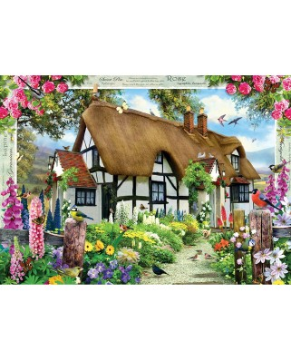 Puzzle Master Pieces - Rose Cottage, 1.000 piese (Master-Pieces-71757)