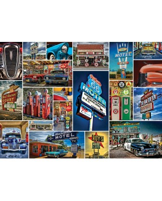 Puzzle Master Pieces - Route 66, 1.000 piese (Master-Pieces-71772)