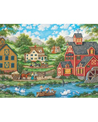 Puzzle Master Pieces - Swan Pond, 550 piese (Master-Pieces-31837)