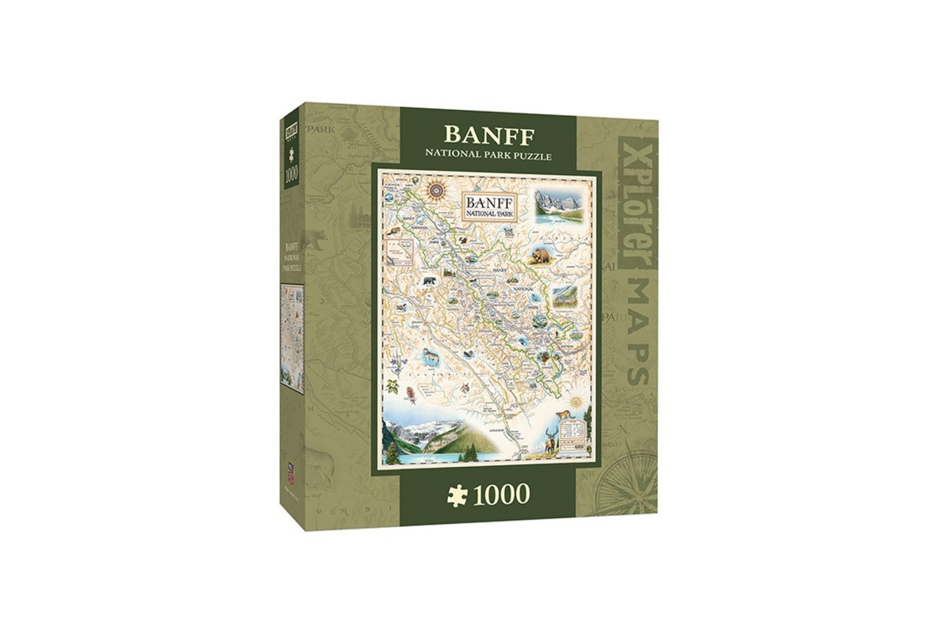 Puzzle Master Pieces - Xplorer Maps - Banff, Canada, 1.000 piese (Master-Pieces-71709)