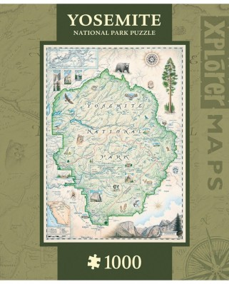 Puzzle Master Pieces - Xplorer Maps - Bryce Canyon, 1.000 piese (Master-Pieces-71701)