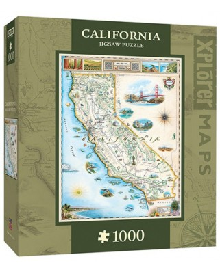 Puzzle Master Pieces - Xplorer Maps - California, 1.000 piese (Master-Pieces-71706)
