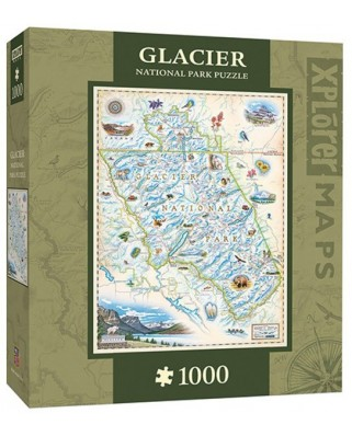 Puzzle Master Pieces - Xplorer Maps - Glacier, 1.000 piese (Master-Pieces-71704)