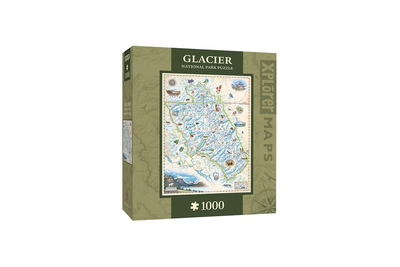 Puzzle Master Pieces - Xplorer Maps - Glacier, 1.000 piese (Master-Pieces-71704)