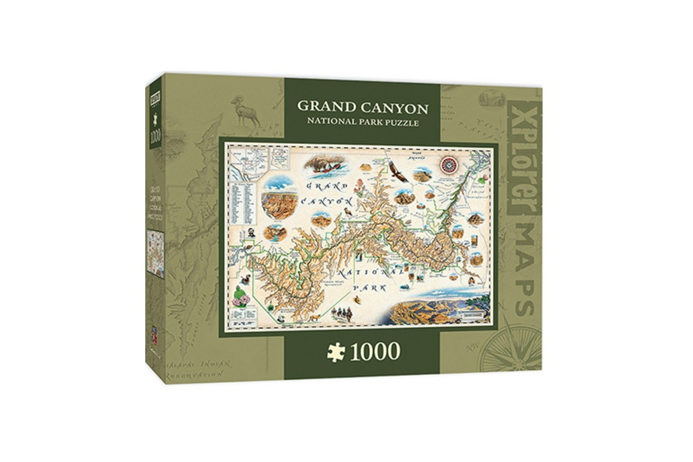 Puzzle Master Pieces - Xplorer Maps - Grand Canyon, 1.000 piese (Master-Pieces-71702)