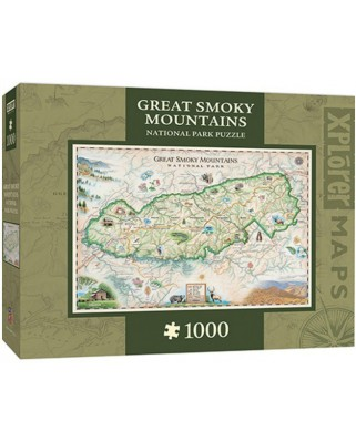 Puzzle Master Pieces - Xplorer Maps - Great Smoky Mountains, 1.000 piese (Master-Pieces-71703)