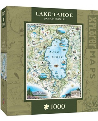 Puzzle Master Pieces - Xplorer Maps - Lake Tahoe, 1.000 piese (Master-Pieces-71707)