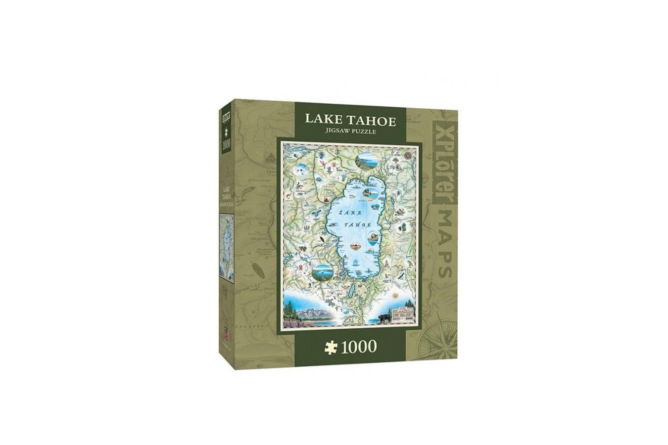 Puzzle Master Pieces - Xplorer Maps - Lake Tahoe, 1.000 piese (Master-Pieces-71707)