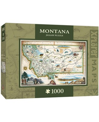 Puzzle Master Pieces - Xplorer Maps - Montana, 1.000 piese (Master-Pieces-71708)