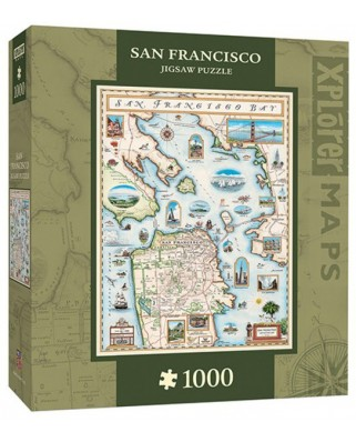 Puzzle Master Pieces - Xplorer Maps - San Francisco Bay, 1.000 piese (Master-Pieces-71705)
