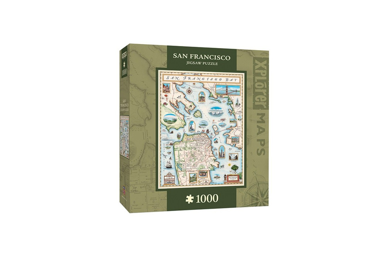 Puzzle Master Pieces - Xplorer Maps - San Francisco Bay, 1.000 piese (Master-Pieces-71705)
