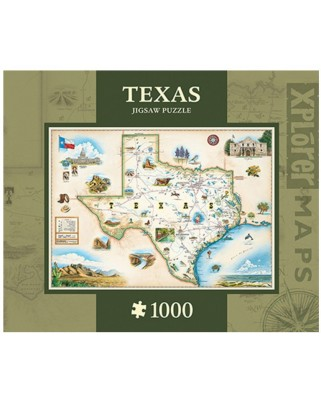 Puzzle Master Pieces - Xplorer Maps - Texas, 1.000 piese (Master-Pieces-71711)