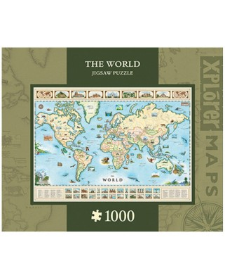 Puzzle Master Pieces - Xplorer Maps - The World, 1.000 piese (Master-Pieces-71710)