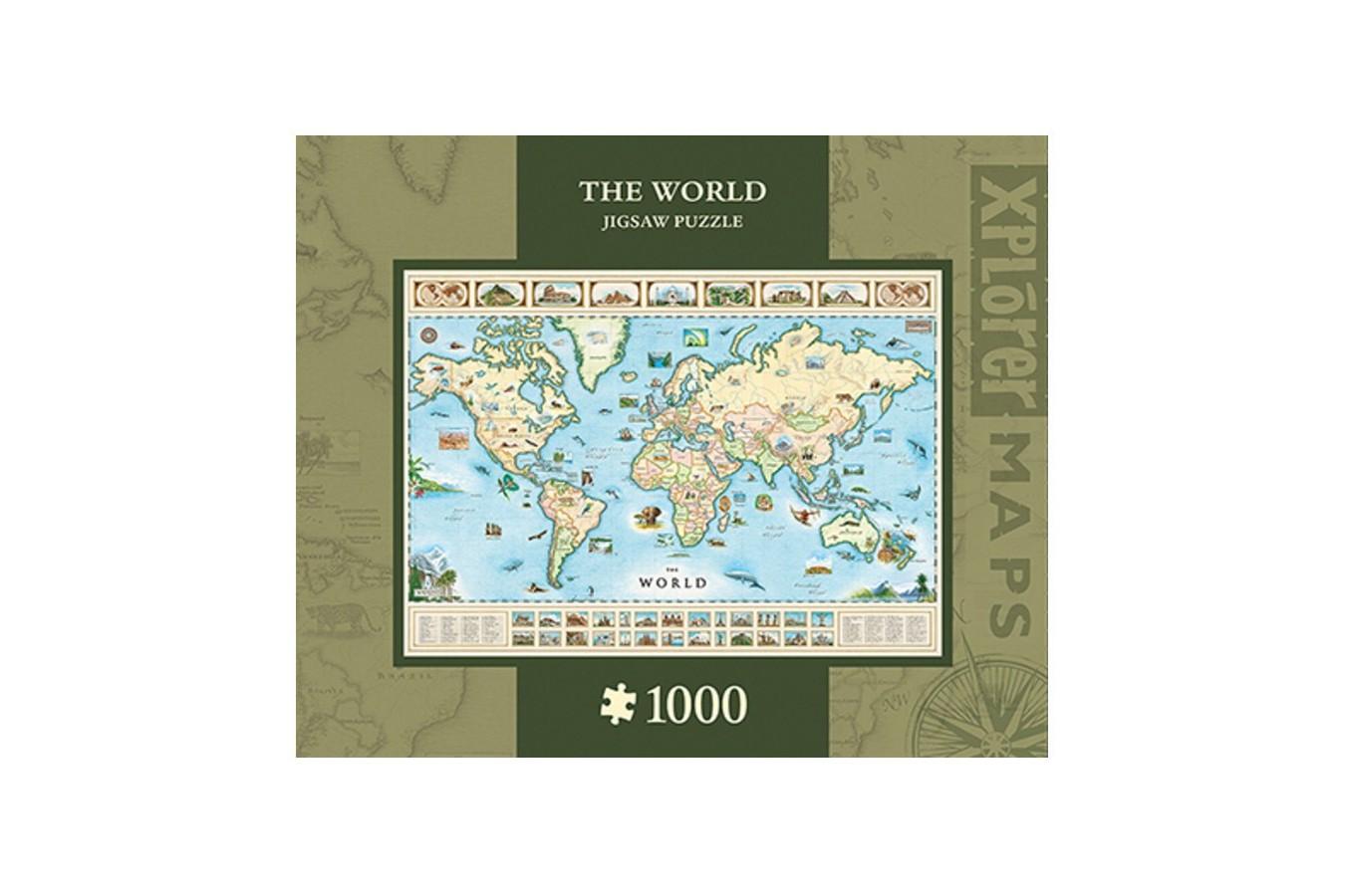 Puzzle Master Pieces - Xplorer Maps - The World, 1.000 piese (Master-Pieces-71710)