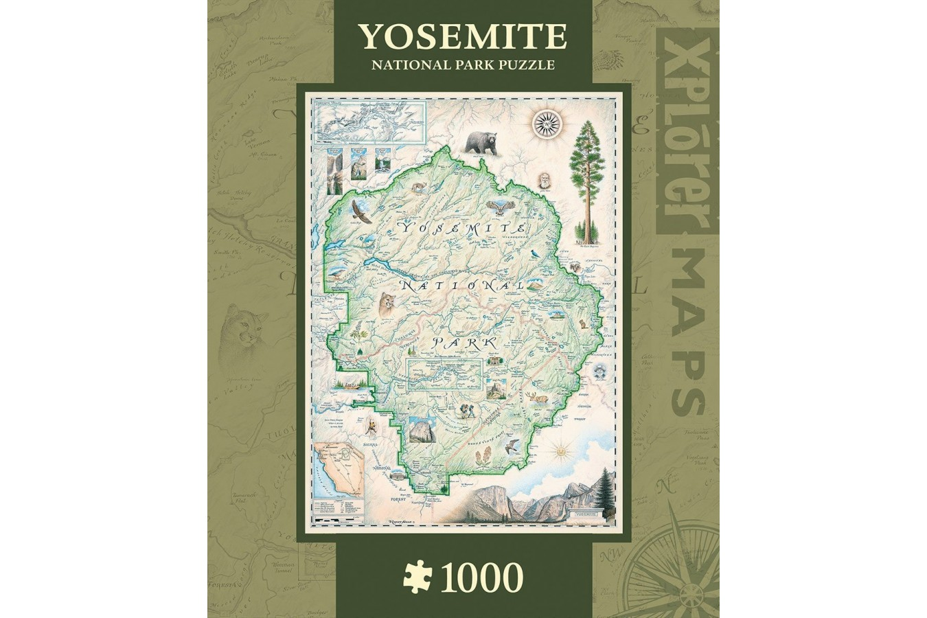 Puzzle Master Pieces - Xplorer Maps - Yosemite, 1.000 piese (Master-Pieces-71699)