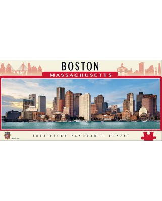 Puzzle panoramic Master Pieces - Boston, Massachusetts, 1.000 piese (Master-Pieces-71695)