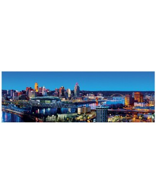 Puzzle panoramic Master Pieces - Cincinnati, Ohio, 1.000 piese (Master-Pieces-71587)