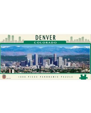 Puzzle panoramic Master Pieces - Denver, Colorado, 1.000 piese (Master-Pieces-71598)