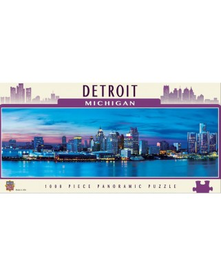 Puzzle panoramic Master Pieces - Detroit, Michigan, 1.000 piese (Master-Pieces-71597)