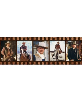 Puzzle panoramic Master Pieces - John Wayne - Forever in Film, 1000 piese (Master-Pieces-71446)