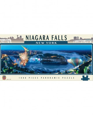 Puzzle panoramic Master Pieces - Niagara Falls, New York, 1.000 piese (Master-Pieces-71584)