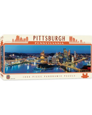 Puzzle panoramic Master Pieces - Pittsburgh, Pennsylvania, 1.000 piese (Master-Pieces-71589)