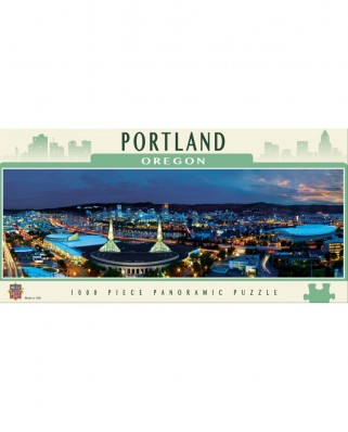 Puzzle panoramic Master Pieces - Portland, Oregon, 1.000 piese (Master-Pieces-71590)