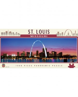 Puzzle panoramic Master Pieces - Saint Louis, Missouri, 1.000 piese (Master-Pieces-71591)