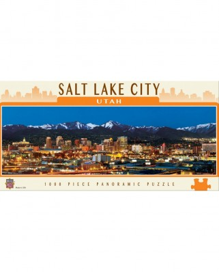 Puzzle panoramic Master Pieces - Salt Lake City, Utah, 1.000 piese (Master-Pieces-71592)