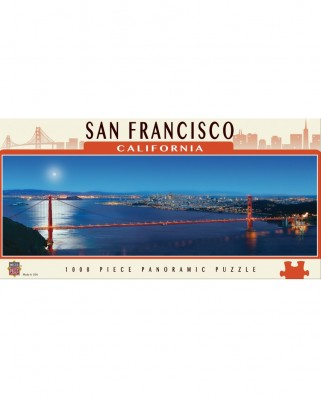 Puzzle panoramic Master Pieces - San Francisco, California, 1.000 piese (Master-Pieces-71595)
