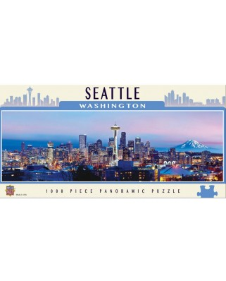 Puzzle panoramic Master Pieces - Seattle, Washington, 1.000 piese (Master-Pieces-71593)