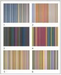 Puzzle cuburi Pomegranate - Gene Davis: 12 cubes to six artworks, 12 piese (PB004)