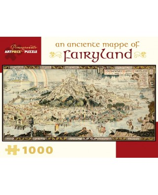 Puzzle panoramic Pomegranate - Bernard Sleigh: An Anciente Mappe of Fairyland, 1.000 piese (AA978)