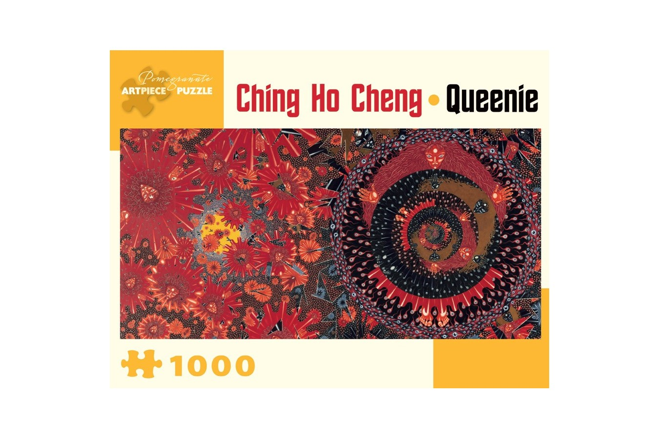 Puzzle panoramic Pomegranate - Ching Ho Cheng: Queenie, 1968, 1.000 piese (AA903)