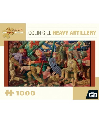Puzzle panoramic Pomegranate - Colin Gill: Heavy Artillery, 1919, 1.000 piese (AA843)