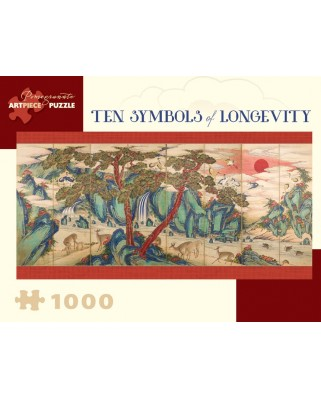 Puzzle panoramic Pomegranate - Joseon Dynasty - Ten Symbols of Longevity, 1.000 piese (AA918)