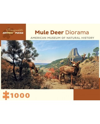 Puzzle panoramic Pomegranate - Mule Deer Diorama - American Museum of Natural History, 1.000 piese (AA941)