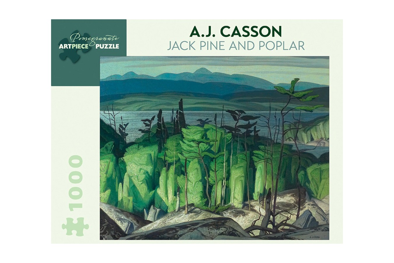 Puzzle Pomegranate - A. J. Casson: Jack Pine and Poplar, 1948, 1.000 piese (AA849)