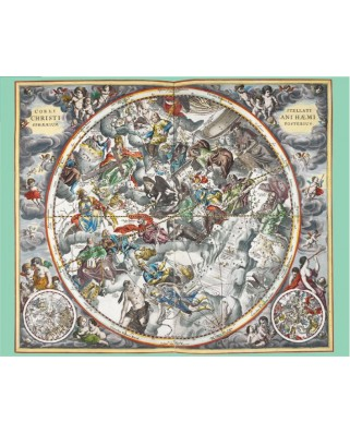 Puzzle Pomegranate - Andreas Cellarius: Map of Heaven, 1.000 piese (AA806)