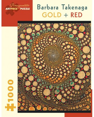 Puzzle Pomegranate - Barbara Takenaga: Gold + Red, 1.000 piese (AA836)
