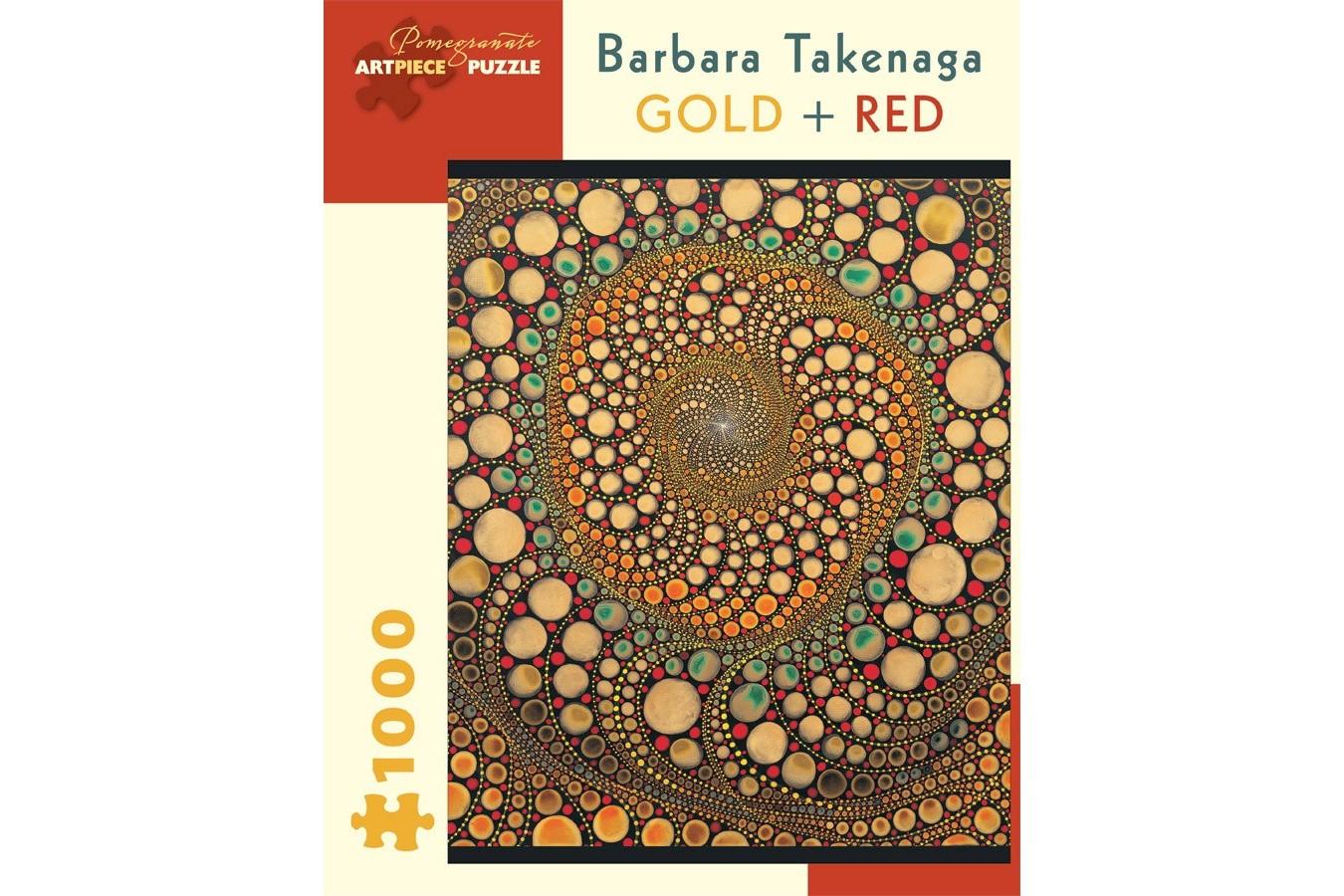 Puzzle Pomegranate - Barbara Takenaga: Gold + Red, 1.000 piese (AA836)