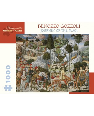 Puzzle Pomegranate - Benozzo Gozzoli: The Journey of the Magi, 1.000 piese (AA1032)