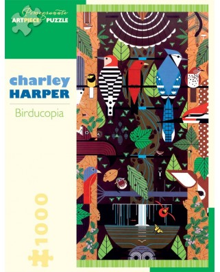 Puzzle Pomegranate - Charley Harper: Birducopia, 1.000 piese (AA829)