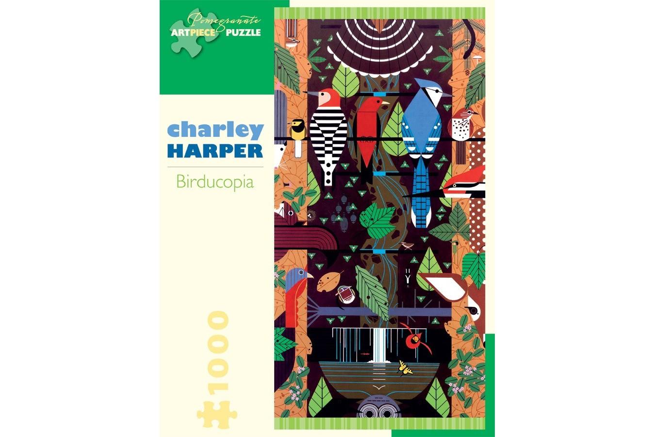 Puzzle Pomegranate - Charley Harper: Birducopia, 1.000 piese (AA829)