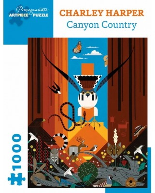 Puzzle Pomegranate - Charley Harper: Canyon Country, 1.000 piese (AA1016)