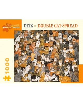 Puzzle Pomegranate - Ditz: Double Cat-Spread, 1.000 piese (AA997)