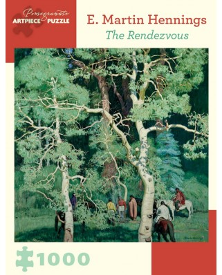 Puzzle Pomegranate - E. Martin Hennings: The Rendezvous, 1.000 piese (AA899)