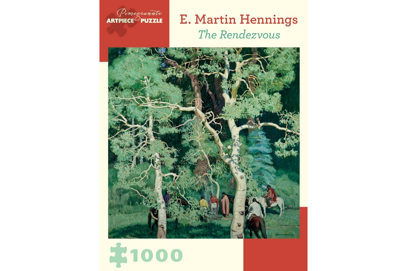 Puzzle Pomegranate - E. Martin Hennings: The Rendezvous, 1000 piese (AA899)